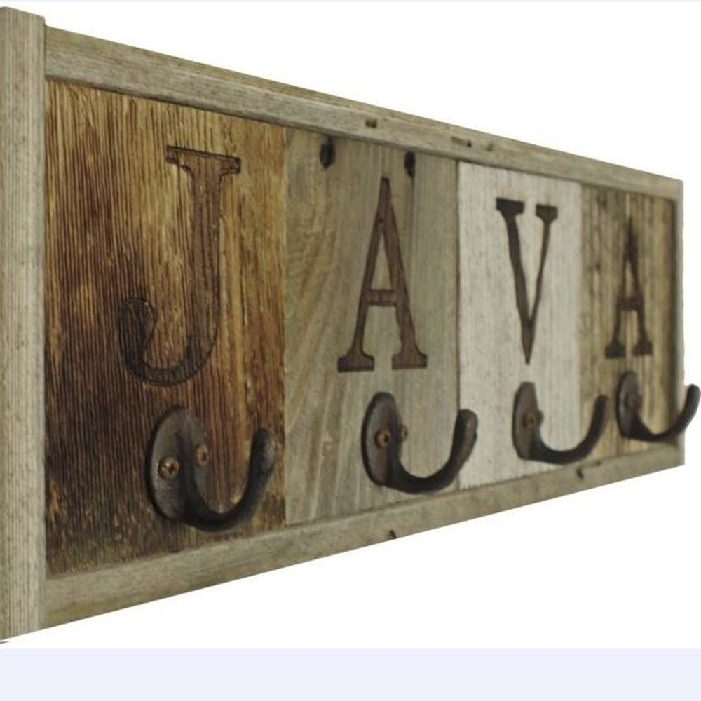4 Hook Java Mug Rack