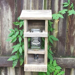 Repurposed Whiskey Bottle Bird Feeder