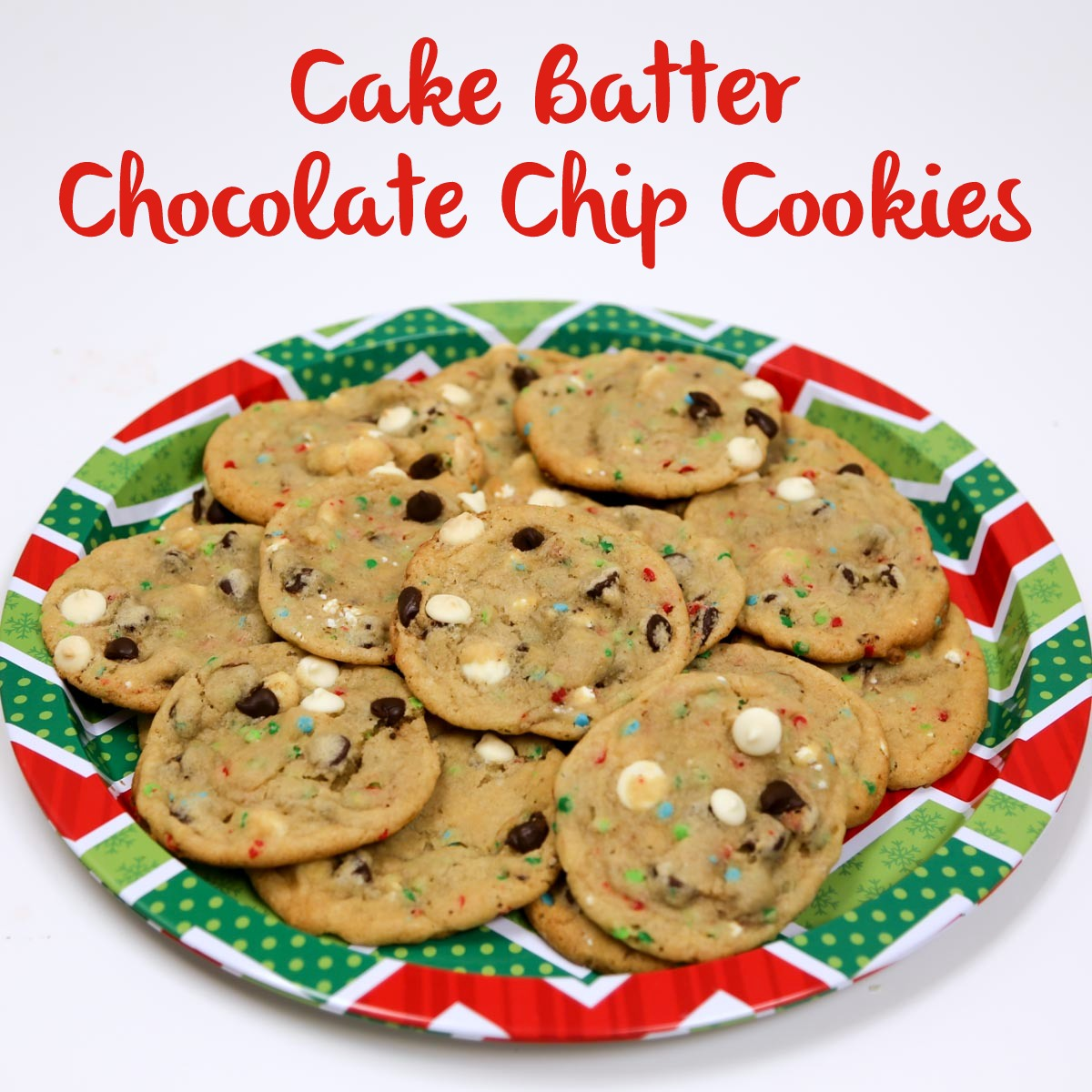 Cake Batter Chocolate Chip Cookies from Smocked Auctions' Aunt Ana #12DaysOfChristmasCookies