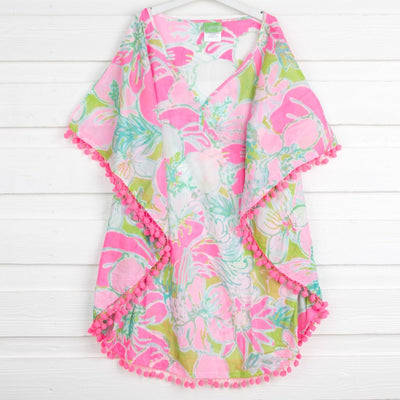 Tropical Floral Mom Cover Up