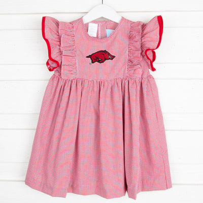 Arkansas Embroidered Dress Check