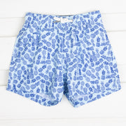Blue Pineapple Swim Trunks