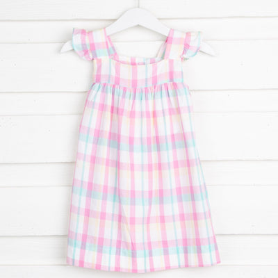 Cotton Candy Amy Dress Plaid
