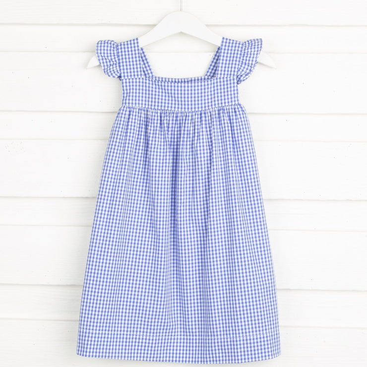 Royal Blue Amy Dress Gingham