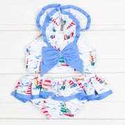 Sailboat Print Two Piece