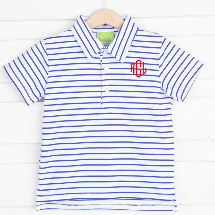 Royal Stripe Polo