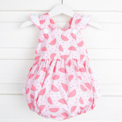Watermelon Print Ruffle Bubble