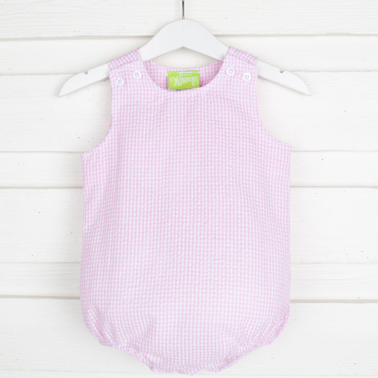 Pink Gingham Seersucker Sun Bubble