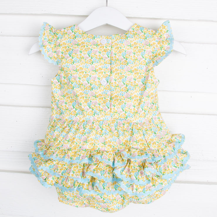 Multi Floral Ruffle Bubble