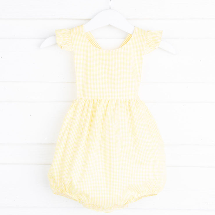 Yellow Gingham Bella Bubble