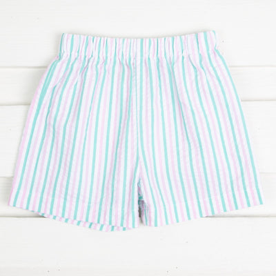 Cotton Candy Seersucker Stripe Boy Shorts