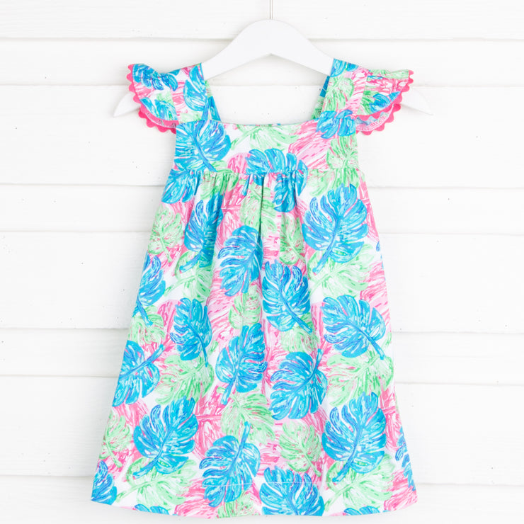Palm Print Amy Dress