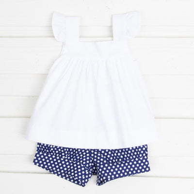 Navy Polka Dot Amy Short Set