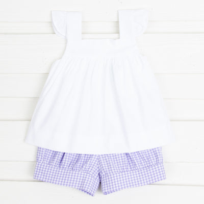 Purple Gingham Amy Short Set