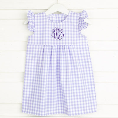 Purple Gingham Anna Dress