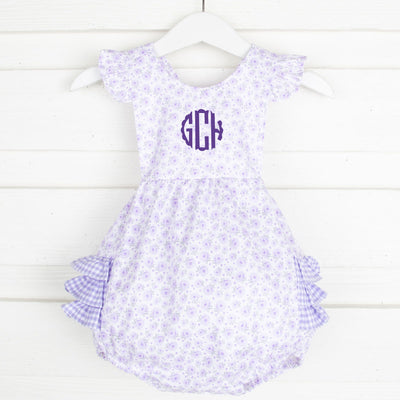 Purple Carolina Gingham Ruffle Bubble