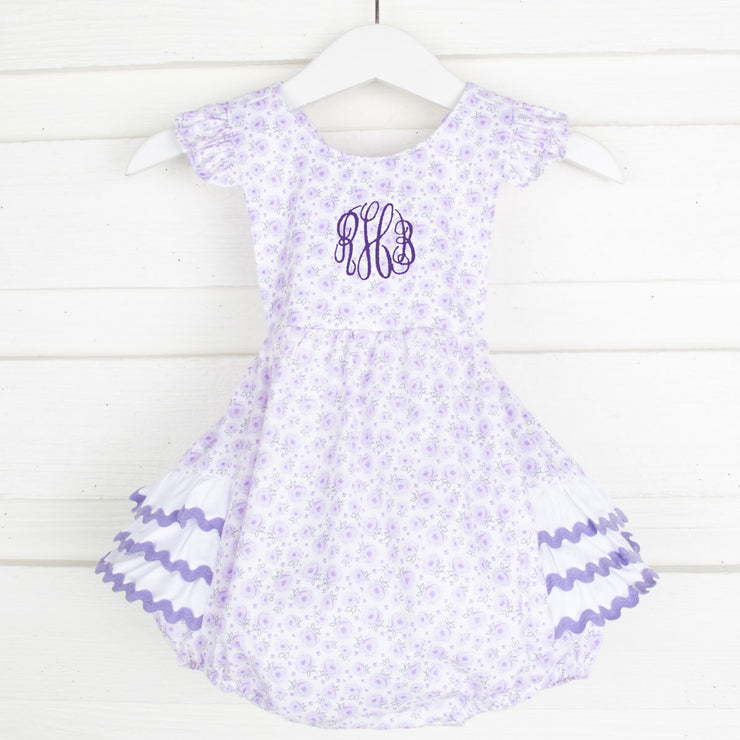 Purple Floral Ruffle Bubble