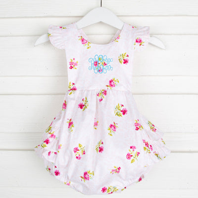 Multi Pink Floral Ruffle Bubble