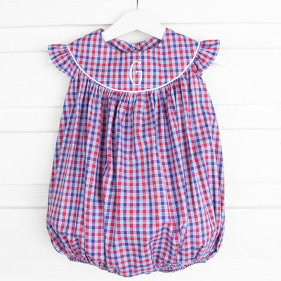 Patriotic Plaid Lucy Bubble