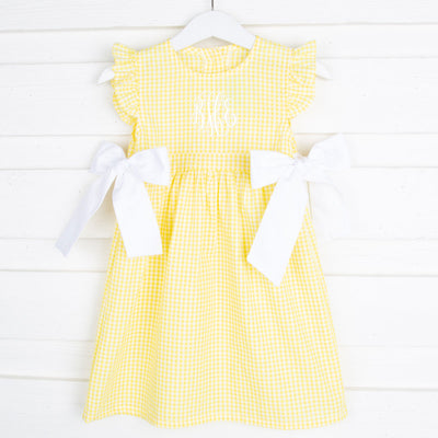 Yellow Gingham Avery Dress