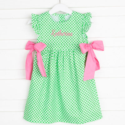 Green Gingham Avery Dress
