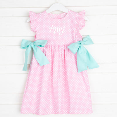 Pink Polka Dot Avery Dress