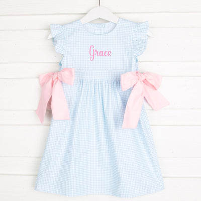 Blue Gingham Avery Dress