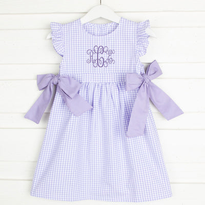 Purple Gingham Avery Dress