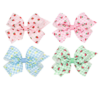 Fruit Printed Grosgrain Bow