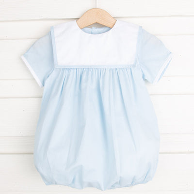 Bib Collared Boy Bubble Light Blue