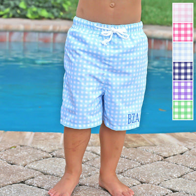Gingham Micro Fiber Board Shorts