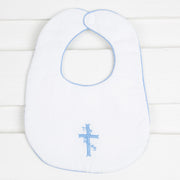 Cross Embroidered Bib
