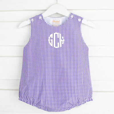 Purple Gingham Sun Bubble