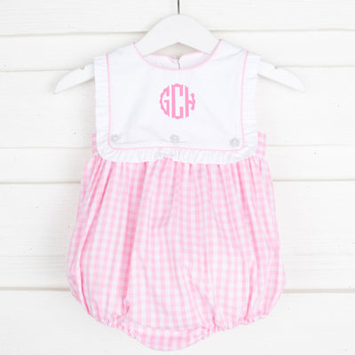 Light Pink Check Bib Bubble