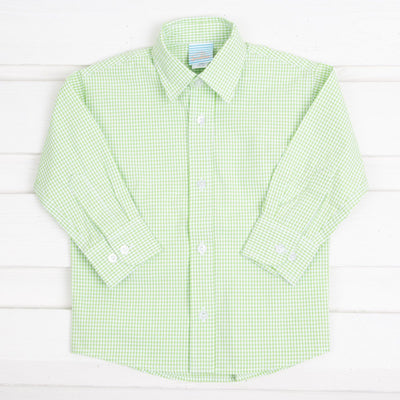 Light Green Seersucker Button Down