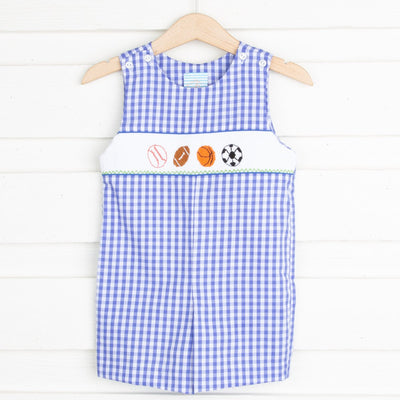 Sport Smocked Jon Jon Royal Blue Check