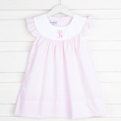 Annie Dress Pink Stripe