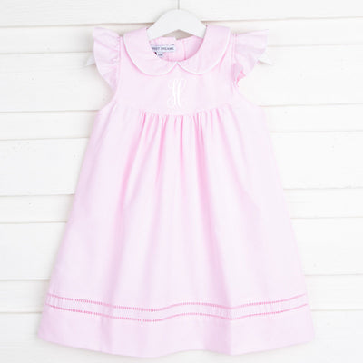 Hemstitch Girl Pink Dress