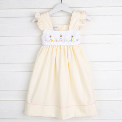 Blooming Festival Yellow Dress