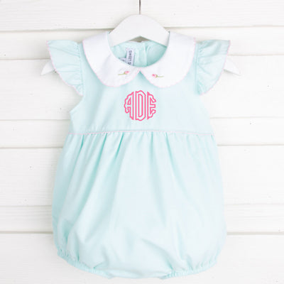Rosebud Embroidered Bubble Mint