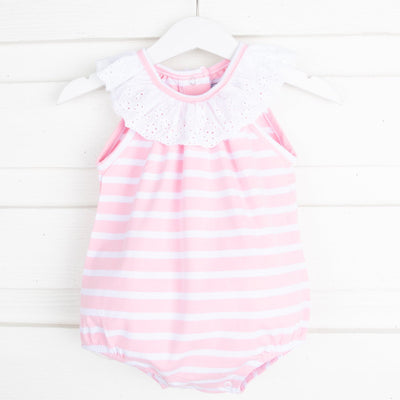 Pink Stripe Lace Bubble
