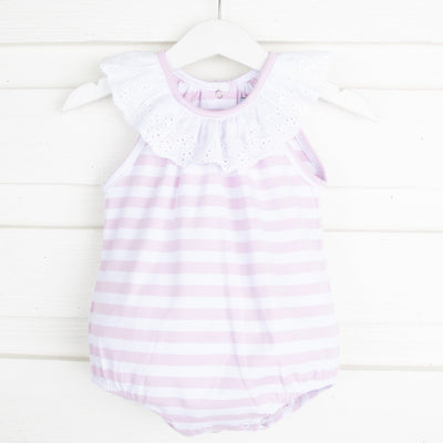 Lilac Stripe Lace Bubble