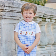 Storybook Rabbit Smocked Jon Jon Blue Plaid