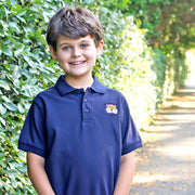 Tiger Embroidered Game Day Polo Navy