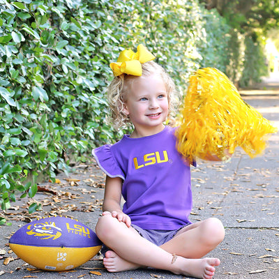 Embroidered LSU Short Set Check