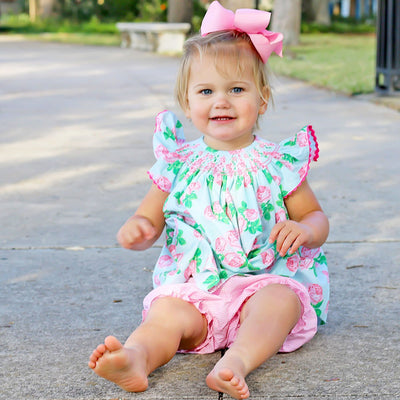 Geometric Smocked Bloomer Set Vintage Blooms