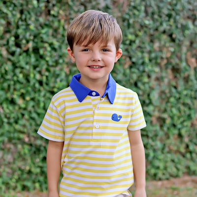 Yellow Stripe Whale Polo