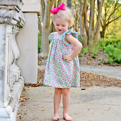 Multi Floral Poppy Dress