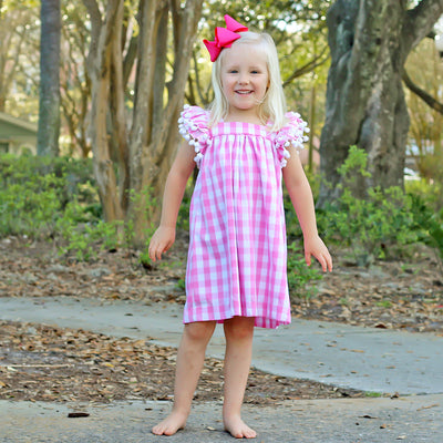 Pink Check Poppy Dress