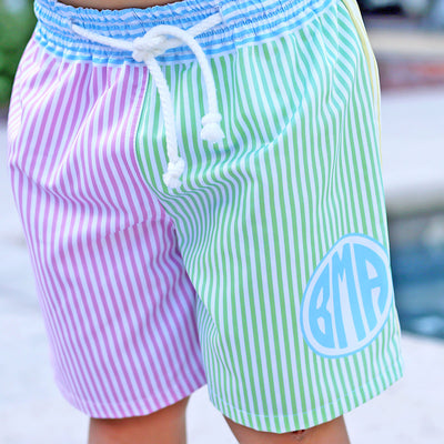 Maui Boys Board Shorts Stripe
